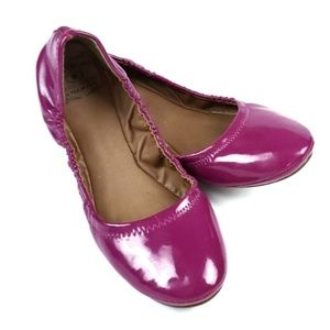 Lucky Brand Patent Leather Emmie Flats Fuschia 7.5
